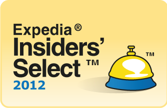 Award recognizing the best hotel 'expedia insiders select' 2012