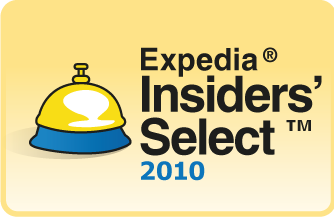 Award recognizing the best hotel 'expedia insiders select' 2010