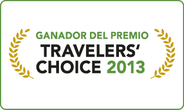 Award recognizing by TripAdvisor 'certificate choice 2013'
