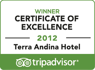 Award recognizing by TripAdvisor 'certificate excellence 2012'
